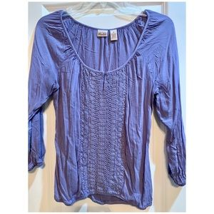 Light purple 3/4 sleeve dressy top